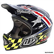Troy Lee Designs D2 Air Strike - Black-Silver 2013