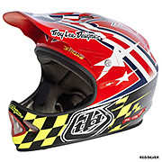 Troy Lee Designs D2 Air Strike - Red-Silver 2013