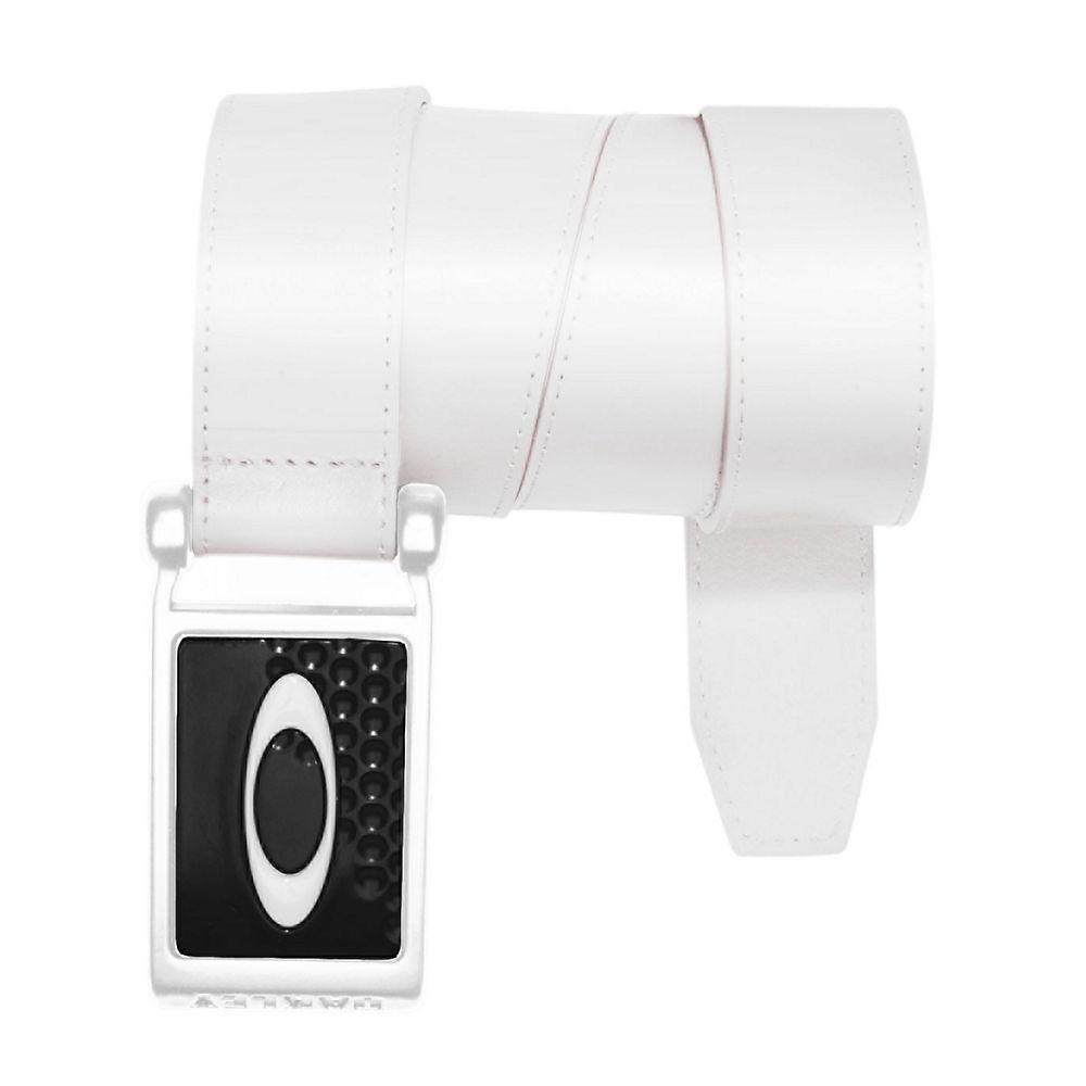 Oakley Mens Ellipse Leather Belts Large White/Black