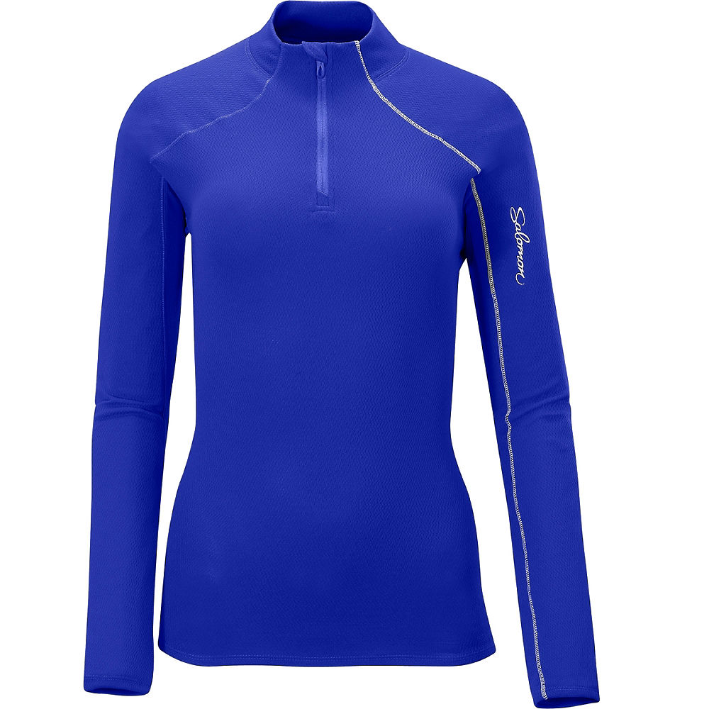 Salomon Womens Fleet II LS 12 Zip Tee AW12