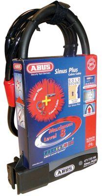 Ensemble Antivol en U et câble Abus Sinus Plus 230 USH