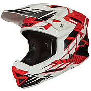 Fly Racing Default Youth Helmet - Red-White 2013