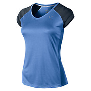 Nike Womens Miler SS V-Neck Top AW13