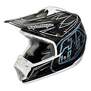 Troy Lee Designs SE3 Helmet - Pinstripe Carbon White