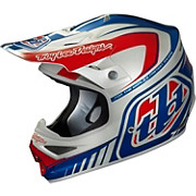 Troy Lee Designs Air Helmet - Delta Silver - Blue
