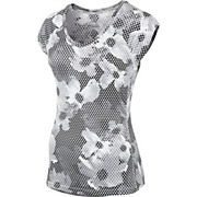 Nike Womens Miler Printed SS V-Neck Top SS14
