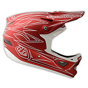 Troy Lee Designs D3 Composite - Pinstripe Red II 2014