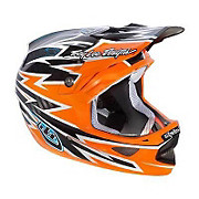Troy Lee Designs D3 Zap Orange Helmet