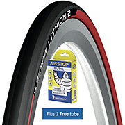 Michelin Lithion 2 Tyre Red + FREE Tube