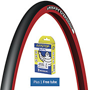 Michelin Pro4 Endurance Tyre Red + FREE Tube