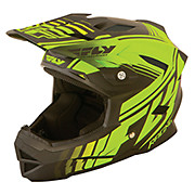 Fly Racing Default Helmet - Matt Black Neon Yellow 2015