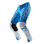 JT Racing Evolve Lite Lazers Pants - Cyan-White