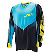 JT Racing Evolve Protek V Jersey - Black-Cyan 2014