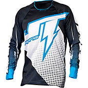 JT Racing Voltage Hyperlite Jersey - White-Black 2015