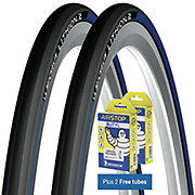 Michelin Lithion 2 Tyres Blue 23c + FREE Tubes