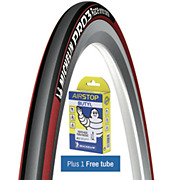 Michelin Pro 3 Race Road Tyre Red + FREE Tube
