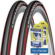 Michelin Pro 3 Race Road Tyres Red + FREE Tubes