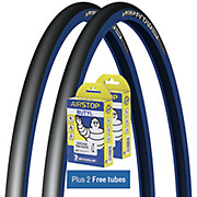 Michelin Pro4 Comp Tyres Blue + FREE Tubes