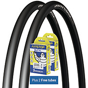 Michelin Pro4 Comp Tyres Black + FREE Tubes