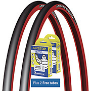 Michelin Pro4 Comp Tyres Red + FREE Tubes