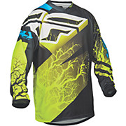 Fly Racing F-16 Youth Jersey - Black-Hi-Vis-Blue 2015