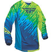 Fly Racing Kinetic Glitch Jersey - Blue-Hi-Vis 2015