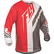 Fly Racing Kinetic Division Jersey - Rd-Gry-Wht 2015