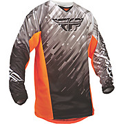 Fly Racing Kinetic Glitch Jersey - Blk-Wht-Org 2015