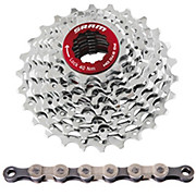 SRAM 9 Speed DH Cassette + Chain Bundle