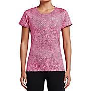 Nike Womens Crackle Miler Short Sleeve Top AW15