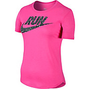 Nike Womens Printed Run Swoosh T-Shirt AW15