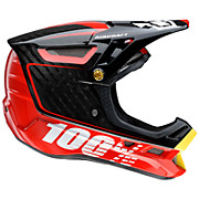 100 Aircraft Carbon DH Helmet - Bi-Turbo Red