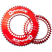 Rotor Q-Ring Oval Chainring Set - Red Edition