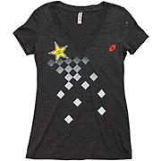 One Industries Womens Rockstar Checked V-Neck Tee 2016