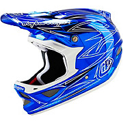 Troy Lee Designs D3 Composite - Pinstripe 2 Blue Chrome 2016