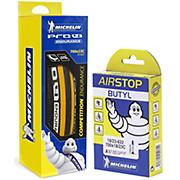 Michelin Pro4 ENDURANCE V2 Yellow + FREE Tube