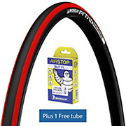Michelin Pro4 ENDURANCE V2 Red + FREE Tube