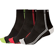 Endura Coolmax Stripe II Socks - Mixed 3 Pack SS17