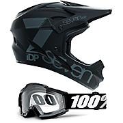 7 iDP M1 Helmet & 100 Goggle Bundle