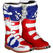 JT Racing Podium MX Boot - White-Red-Blue 2017