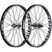 Blank Compound XL BMX Wheelset - Rainbow
