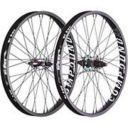 Blank Compound XL BMX Wheelset - Rainbow