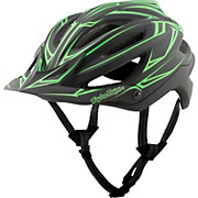 Troy Lee Designs A2 MIPS Helmet - Pinstripe Black-Green 2017