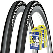 Michelin Pro 3 Race Road Tyres + Tubes Bundle