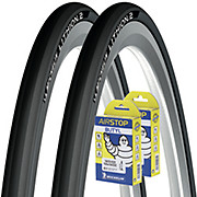 Michelin Lithion 2 Road Tyres + Tubes Bundle