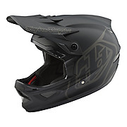 Troy Lee Designs D3 Fiberlite Helmet - Mono Black 2018