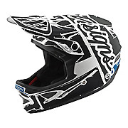 Troy Lee Designs D3 Fiberlite Helmet - Factory White-Grey 2018
