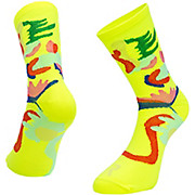 Ratio Floral 16cm Sock Yellow