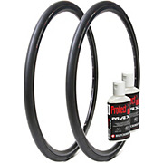 Hutchinson 2 Sector TL Tyres 28c & Protect Air Max