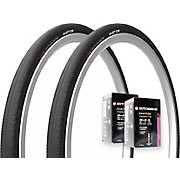 Hutchinson 2 Overide Folding Tyres & 2 Tubes